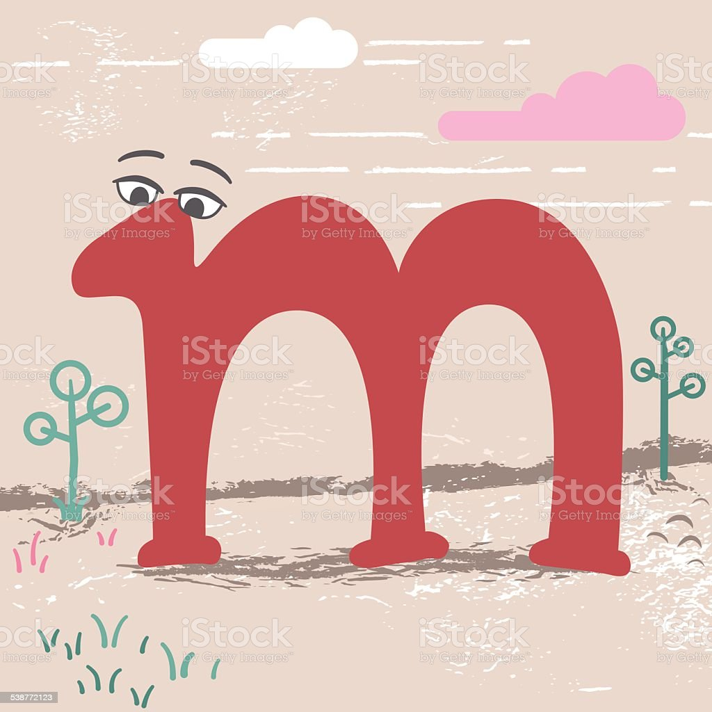 Cute alphabet letter m stock vector art more images of 2015 cute alphabet letter m royalty free cute alphabet letter m stock vector art amp altavistaventures Image collections