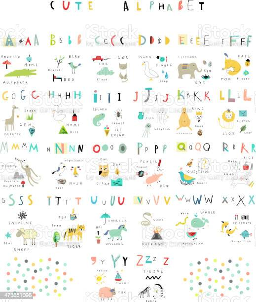 Cute alphabet letters and words flora fauna animals vector id473851096?b=1&k=6&m=473851096&s=612x612&h=8hn 32gd6mm kipm3dmdg7bfzr7dqsfyfgnyln812z0=