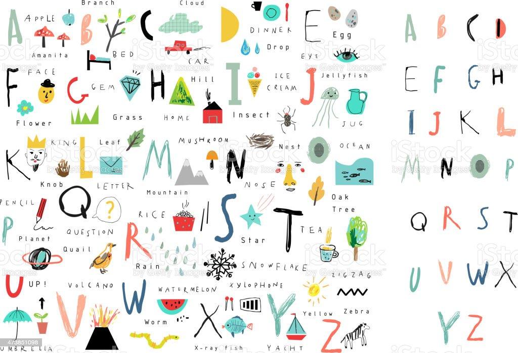 かわいいまでつながっているようです。文字と単語ます。詳細をお読みください。絶縁ます。 ベクターアートイラスト