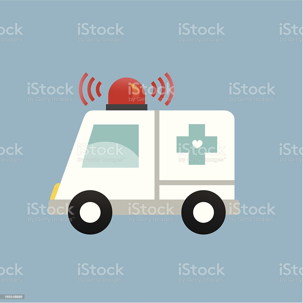 cute ambulance with siren