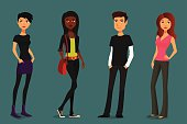 cute and colorful cartoon people