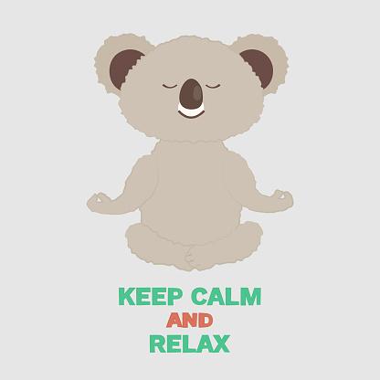 cute and cozy vector illustration of cartoon koala soar in