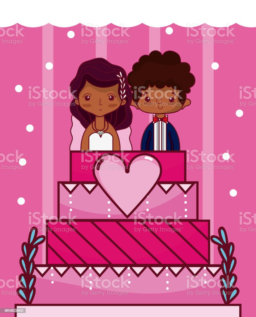 Cute and delicious wedding cake royalty-free cute and delicious wedding cake stock vector art & more images of no people