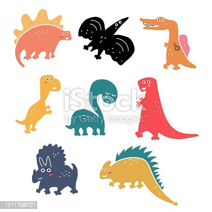 Cute and funny dinosaurs.