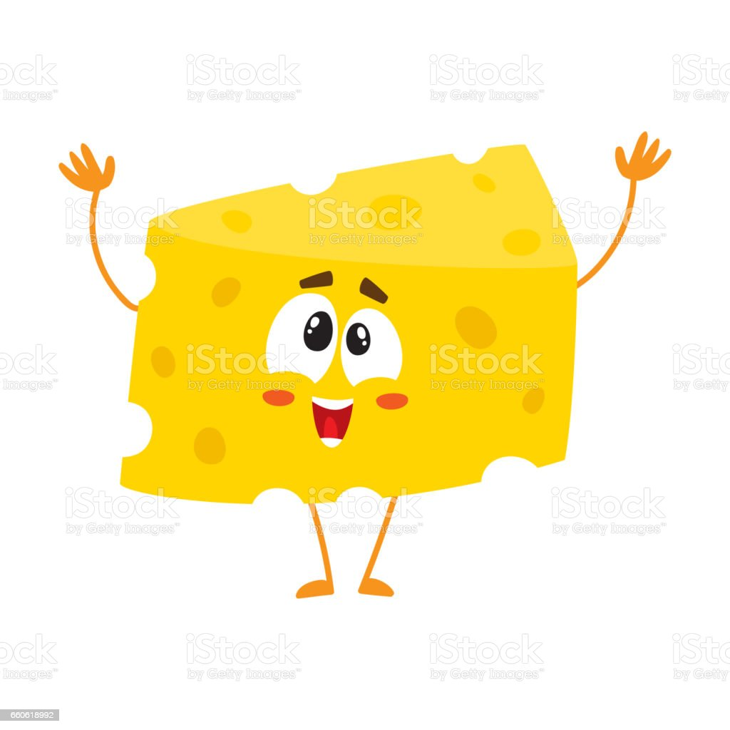 Cute and funny greeting, welcoming cheese chunk character royalty-free cute and funny greeting welcoming cheese chunk character stock vector art & more images of appetizer