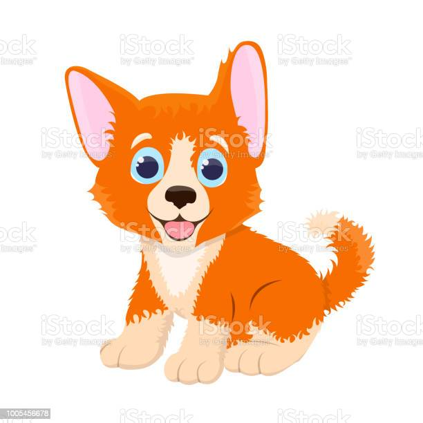 Cute and funny sweet dog isolated on the white background vector of vector id1005456678?b=1&k=6&m=1005456678&s=612x612&h=jusrfxrok5xhw x y cikzsaq uao3in21qlpclclp0=