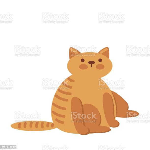 Cute and funny sweet red cat character cartoon vector illustration vector id917678560?b=1&k=6&m=917678560&s=612x612&h=rajvmftos1fdqezaanztyrnejaiup37dlt2quw2ajgm=
