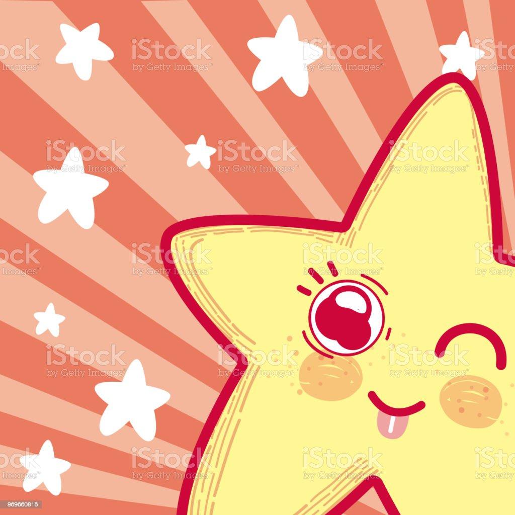 Ilustracion De Dibujos Animados Estrellas Lindo Y Tierno Y Mas Banco