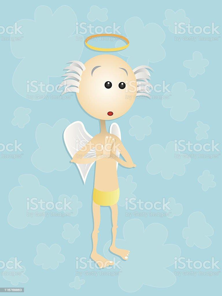 Süße Engel Stock Vektor Art und mehr Bilder von Beten - iStock