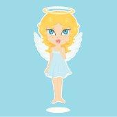 cute angel flying