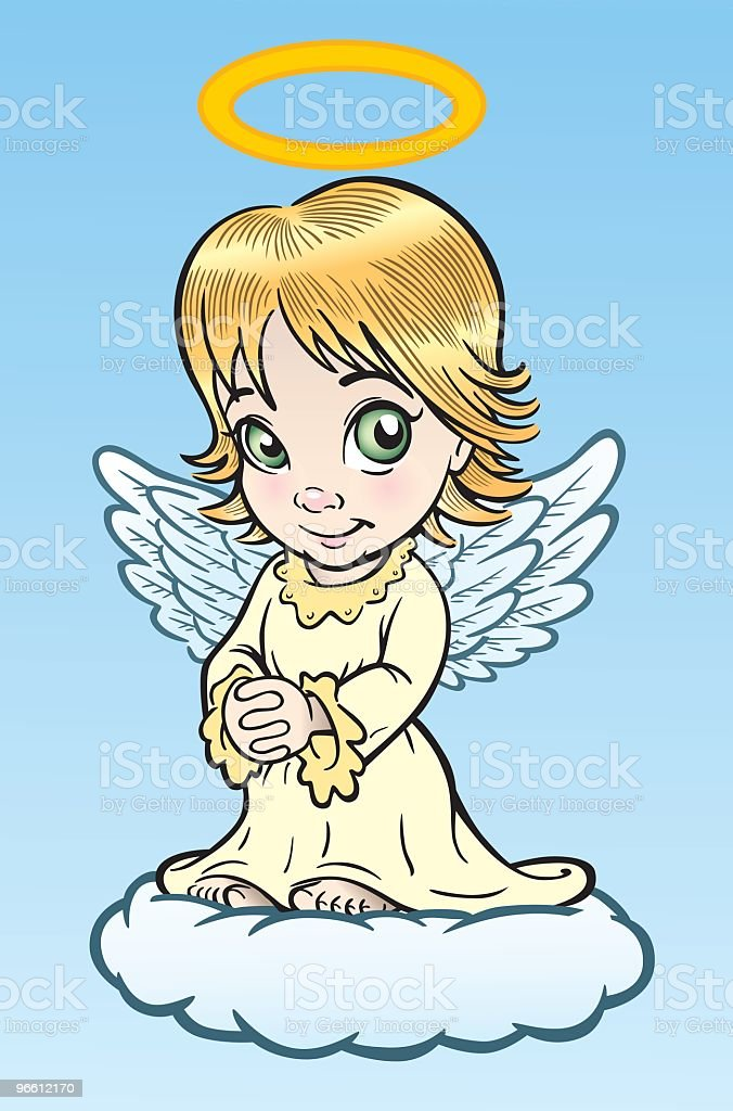 Süße Engel - Lizenzfrei Beten Vektorgrafik