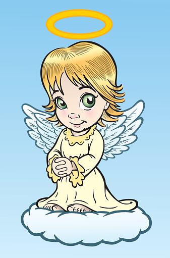 Süße Engel Stock Vektor Art und mehr Bilder von Beten