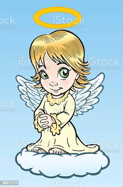 Cute Angel-vektorgrafik och fler bilder på Andlighet