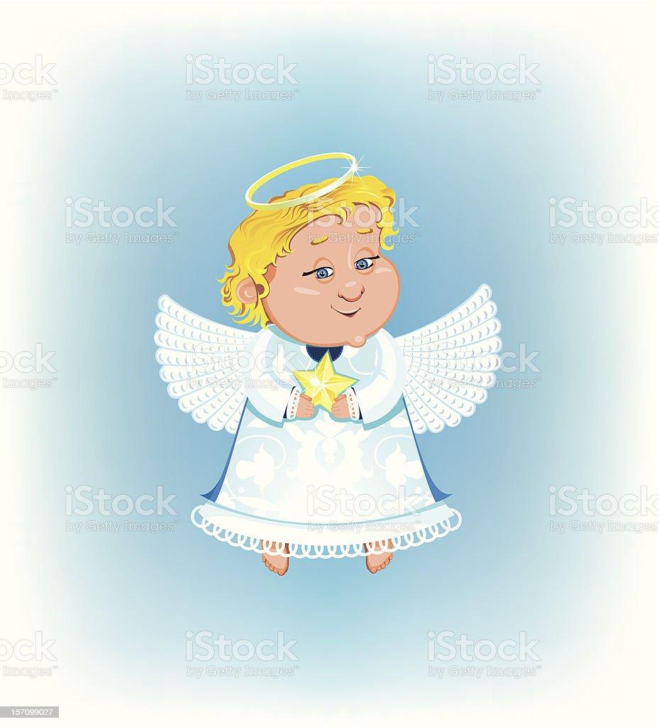 Süße Engel Mit Weihnachten Sterne Stock Vektor Art Und Mehr Bilder