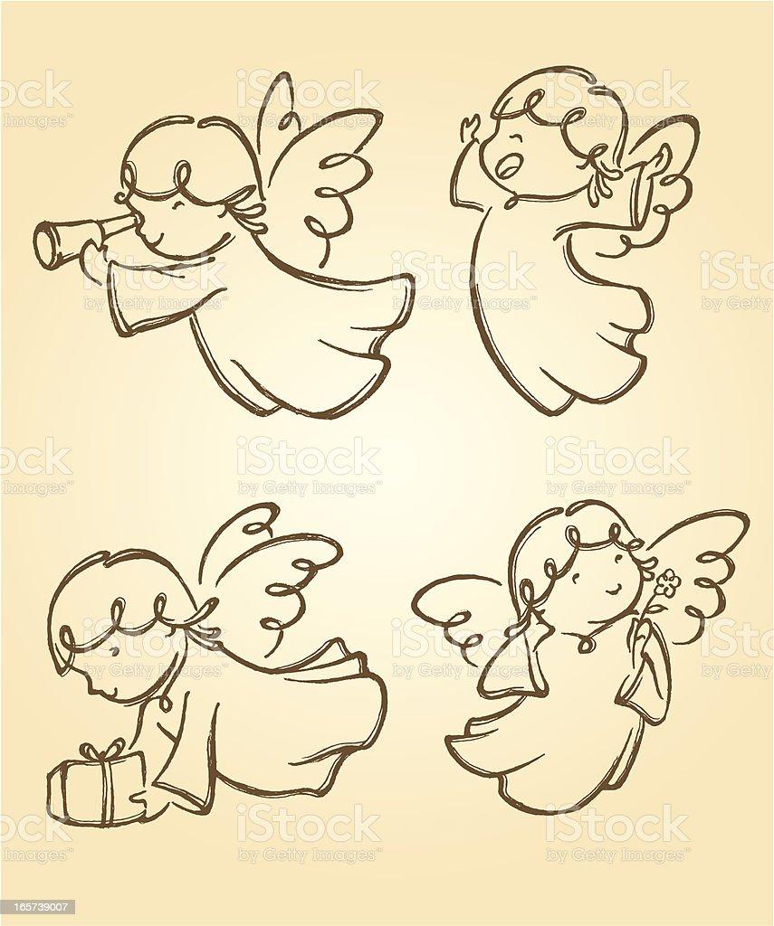 Linda Angels Juego 2 - ilustración de arte vectorial