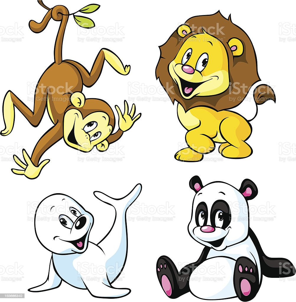 cute animal cartoon royalty-free stock vector art