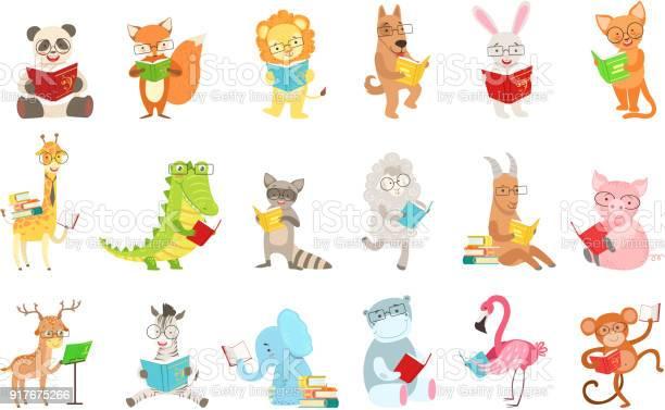 Cute animal characters reading books set vector id917675266?b=1&k=6&m=917675266&s=612x612&h=huqmok0b5a0waikyakg1ygtsuaxqkl53epucjm5mxns=