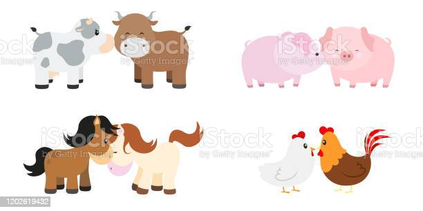 Cute animal couples vector illustration set on white vector id1202619432?b=1&k=6&m=1202619432&s=612x612&h=cjojxkkmpvwzydl553oyubenrzyzaoncrs phlsp0tc=