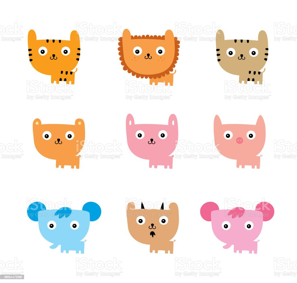 cute animal doodle vector royalty-free cute animal doodle vector stock vector art & more images of animal