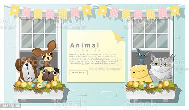 Cute animal family background with dogs and cats vector id586720168?b=1&k=6&m=586720168&s=612x612&h=bwyxrfg4aet64kezrxyy8gvucf5odqz3xl5dp2t rbg=