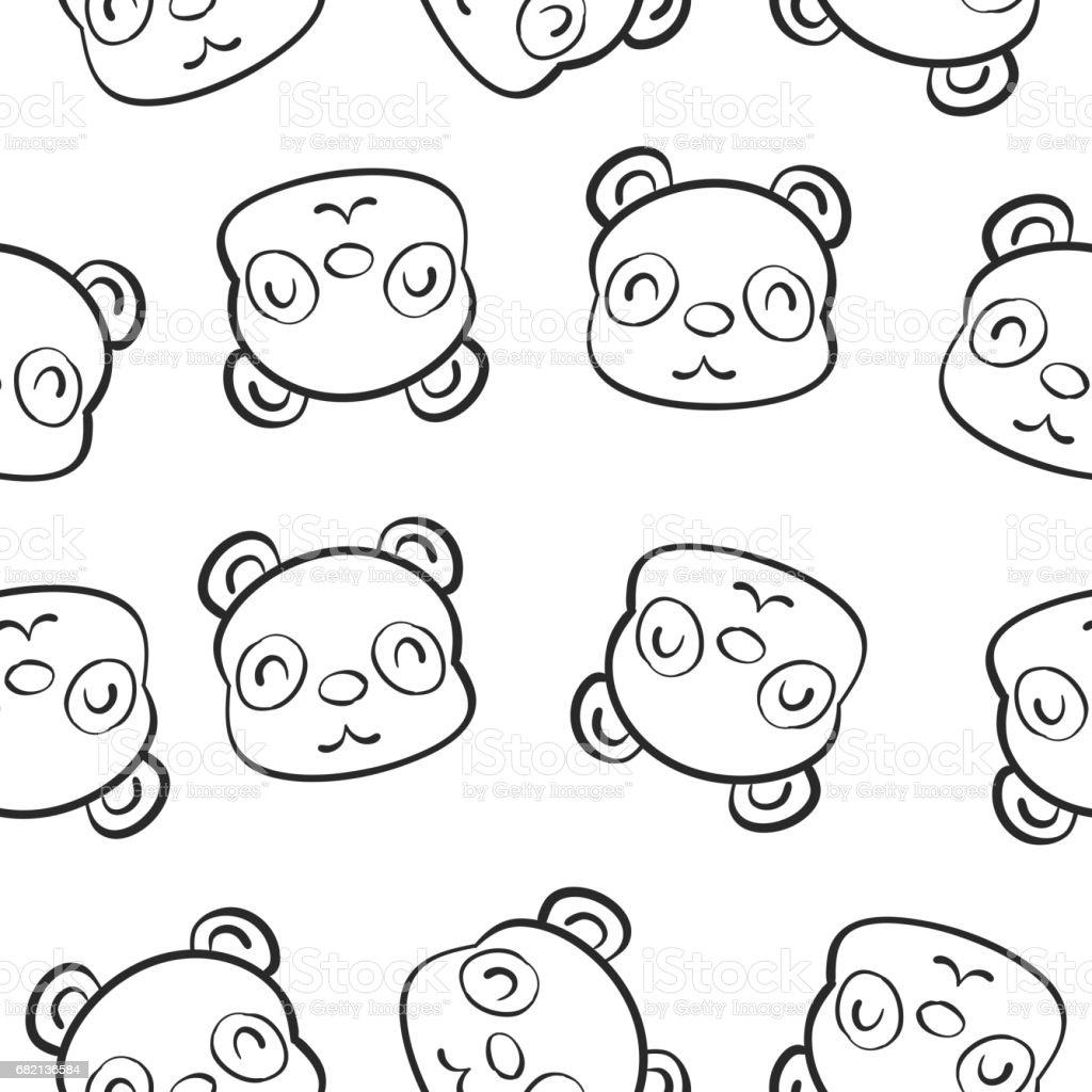 Niedliche Tier Hand Zeichnen Muster Stock Vektor Art Und Mehr Bilder