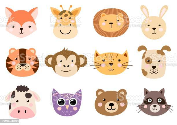 Cute animal heads for baby and children design vector id859424388?b=1&k=6&m=859424388&s=612x612&h=wo1upqzkfrfjpwnzga4h5mcs3sjdlntytgxrcuohylw=