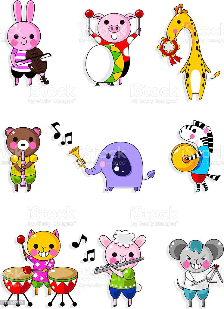 cute animal icon royalty-free stock vector art