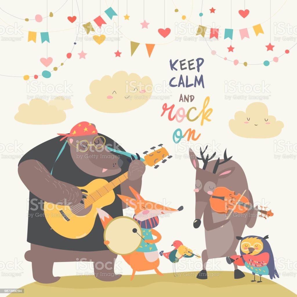 かわいい動物の音楽バンド お祝いのベクターアート素材や画像を多数ご用意 Istock