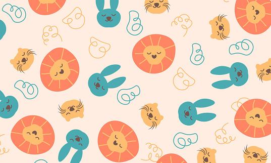 Cute Animal pattern background