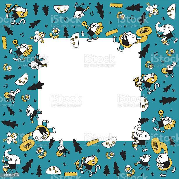 Cute animal play musicvector illustration blank vector id635943116?b=1&k=6&m=635943116&s=612x612&h=mruttxj2rfsam76fkqepxjkdztyxs8wpur ovd2ewxw=