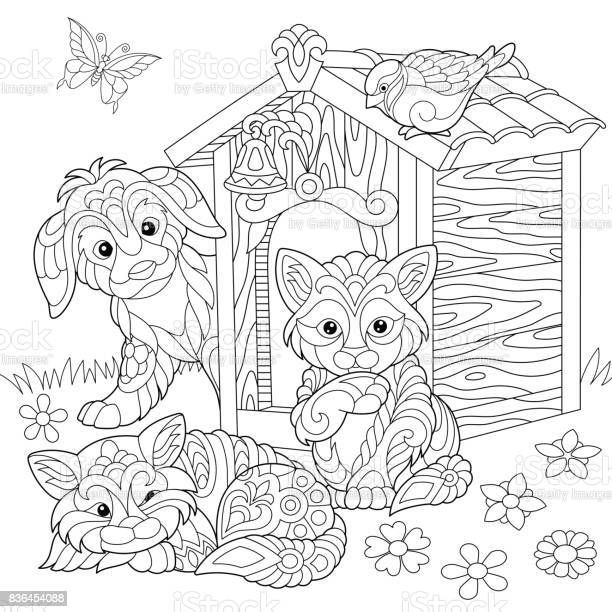 Cute animals around doghouse vector id836454088?b=1&k=6&m=836454088&s=612x612&h=gglosz xbwr4 tqktxhdwtbi clsi0p8wasnnzkbwxg=
