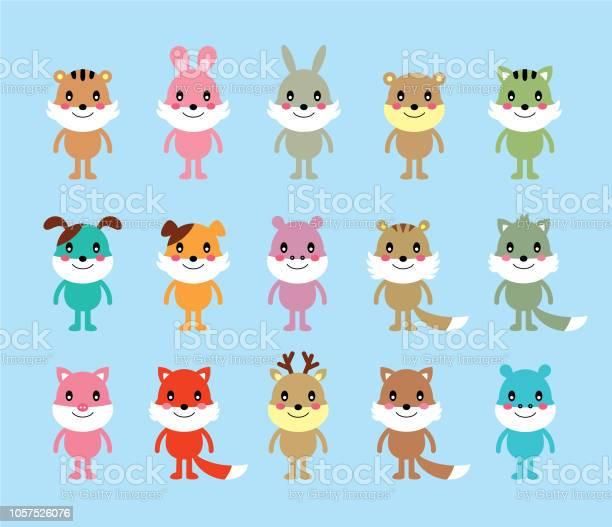 Cute animals cartoon vector collection vector id1057526076?b=1&k=6&m=1057526076&s=612x612&h=a6 f0wrcgy3oz8hz082j2r4mi4yv25h8raau1vibaqg=