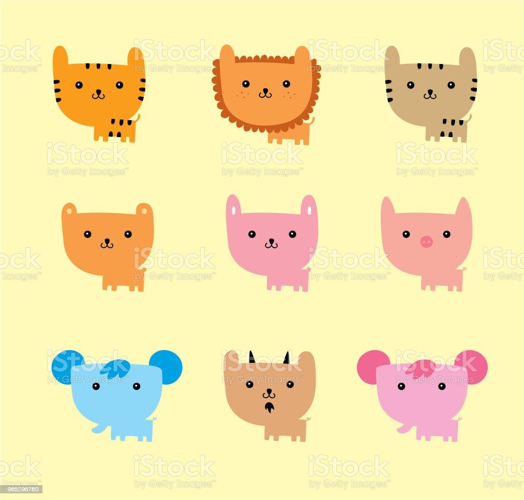 cute animals cartoon vector royalty-free cute animals cartoon vector stock illustration - download image now