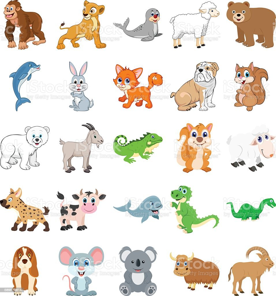 Cute Animals Colored Vector Icons 2