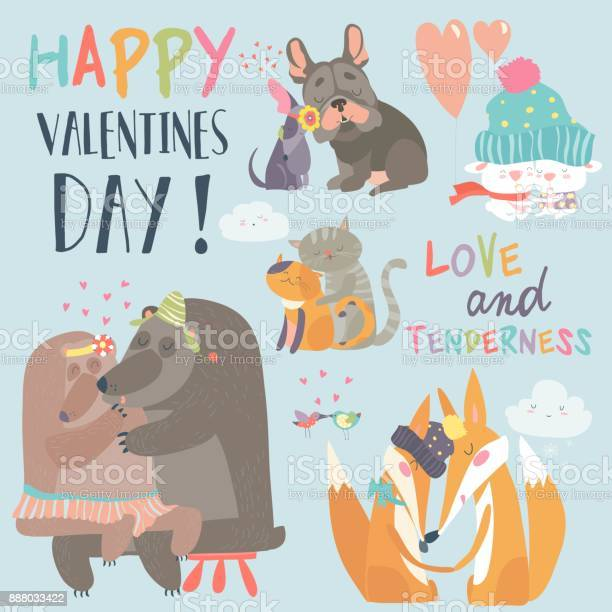 Cute animals couples in love collection vector id888033422?b=1&k=6&m=888033422&s=612x612&h=8retxdf7ss0xeyino dbqk7lzzfll4s4py3sw xcxog=