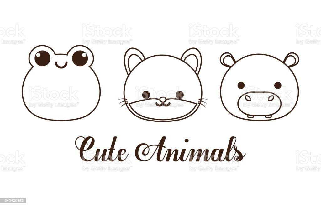 ilustração de desenho de animais fofos e mais banco de imagens de