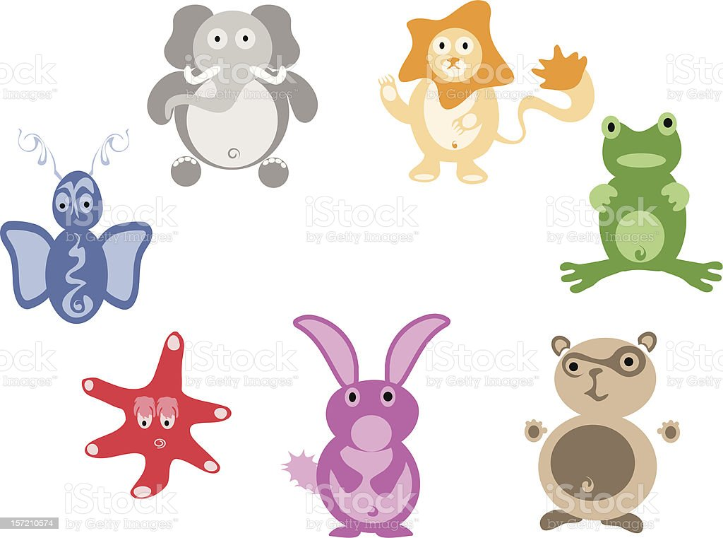 Cute animals for children illustrations royalty-free stock vector art