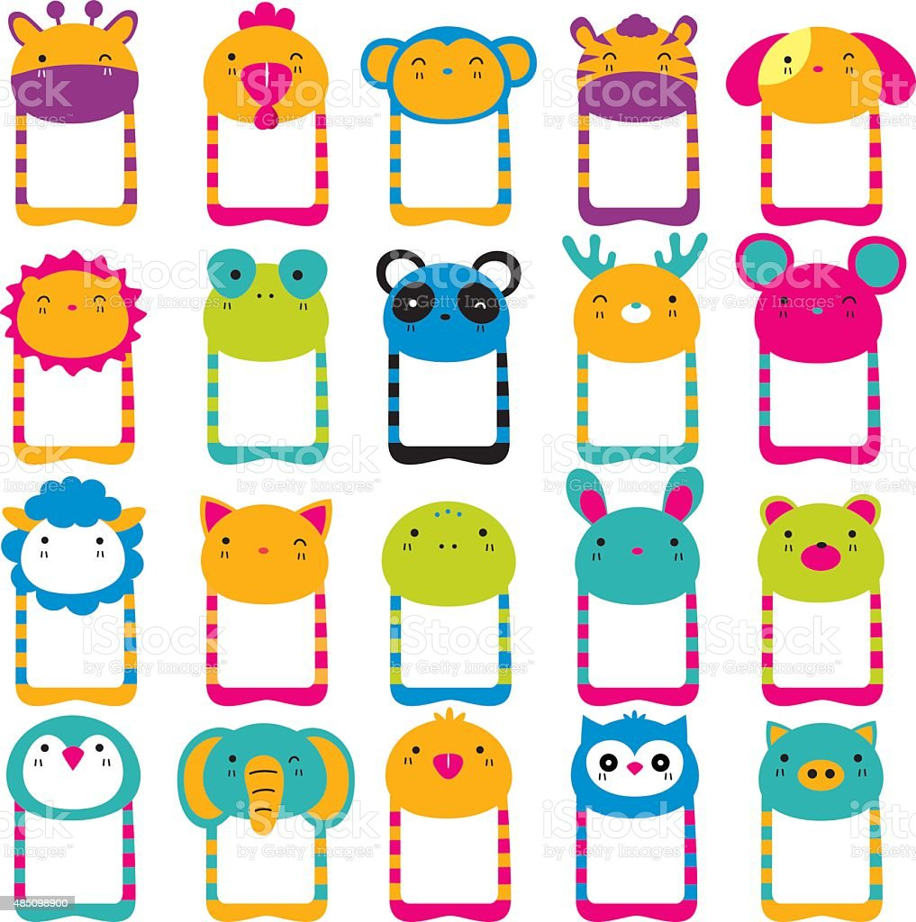 cute animals head clip art set stock vector art more images of rh istockphoto com cute cliparts cute clipart kids
