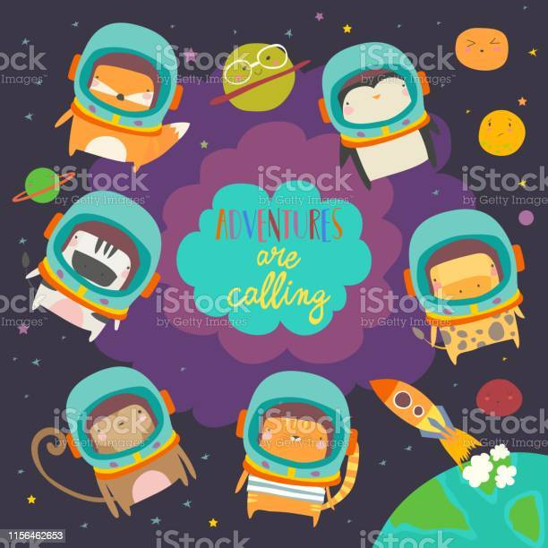 Cute animals in space funny animals wearing space suits vector id1156462653?b=1&k=6&m=1156462653&s=612x612&h=m20tpkiq6e3hknrpkber8s1rtgfm  dghqays22eymk=