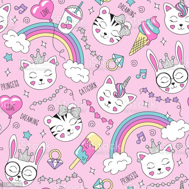 Cute animals pattern on a pink background colorful trendy seamless vector id1126079849?b=1&k=6&m=1126079849&s=612x612&h=twez6t18asuttdocoajxsgaevot3szehmokysska0v4=