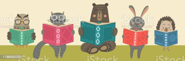 Cute animals reading books vector id1130532222?b=1&k=6&m=1130532222&s=612x612&h=icobx0ofw54nkdweqg44w1tx2ksxtexitb ng3lgnw0=