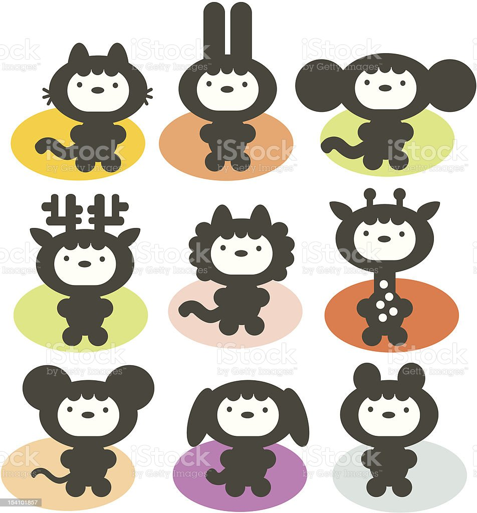 Cute animals set. royalty-free cute animals set stock vector art & more images of animal