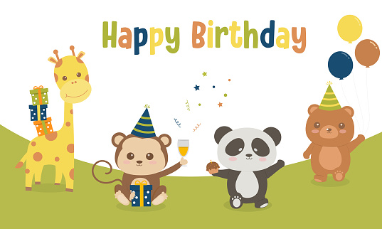 Cute animals small birthday party