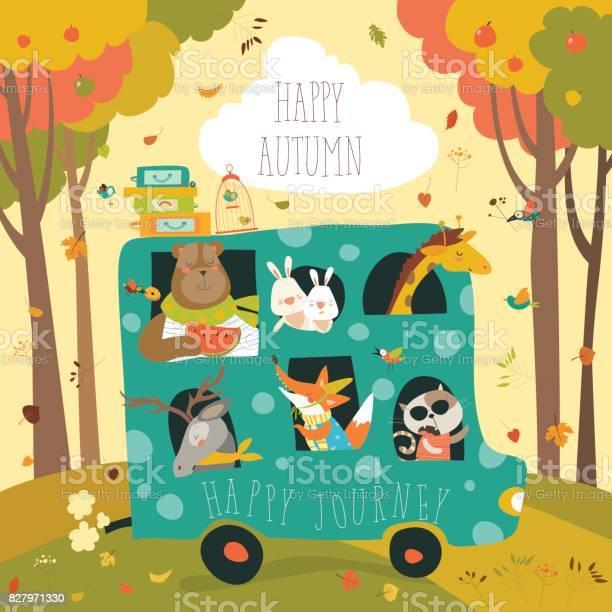 Cute animals traveling by bus vector id827971330?b=1&k=6&m=827971330&s=612x612&h=gqiymgbbhmb79iayaziez zsiyslnnt0g09kiyklsfe=
