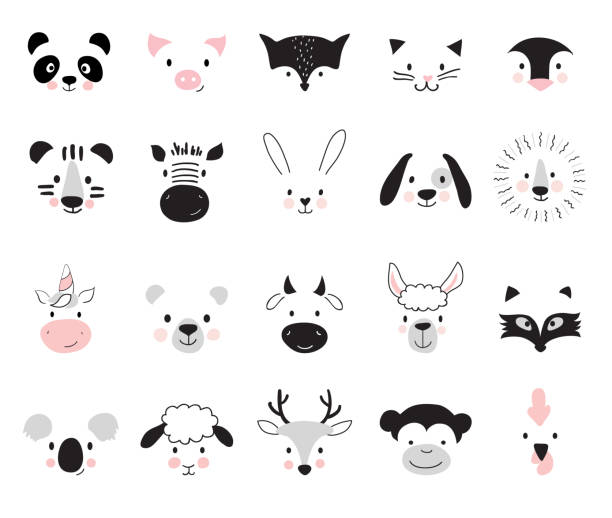 cute animals. - baby animals stock illustrations