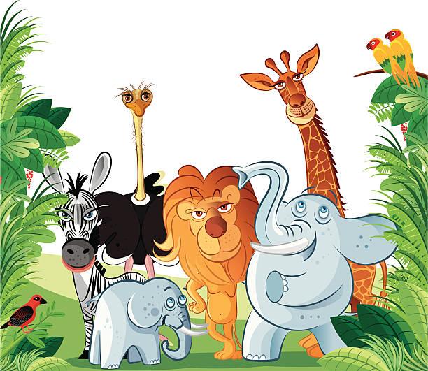 niedlichen tiere - giraffenhumor stock-grafiken, -clipart, -cartoons und -symbole