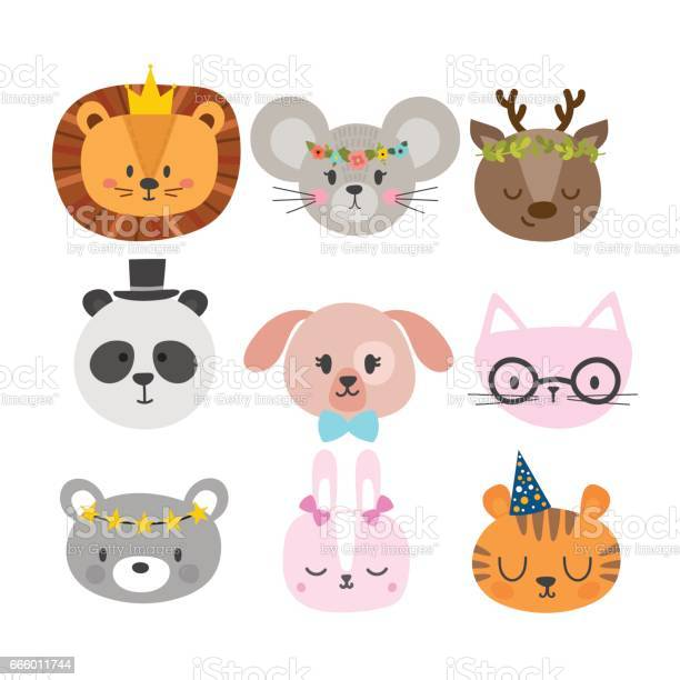 Cute animals with funny accessories set of hand drawn smiling cat vector id666011744?b=1&k=6&m=666011744&s=612x612&h=f9pcmvwhwn gjp4cost0i44ycgtcxftffg4uo adef0=