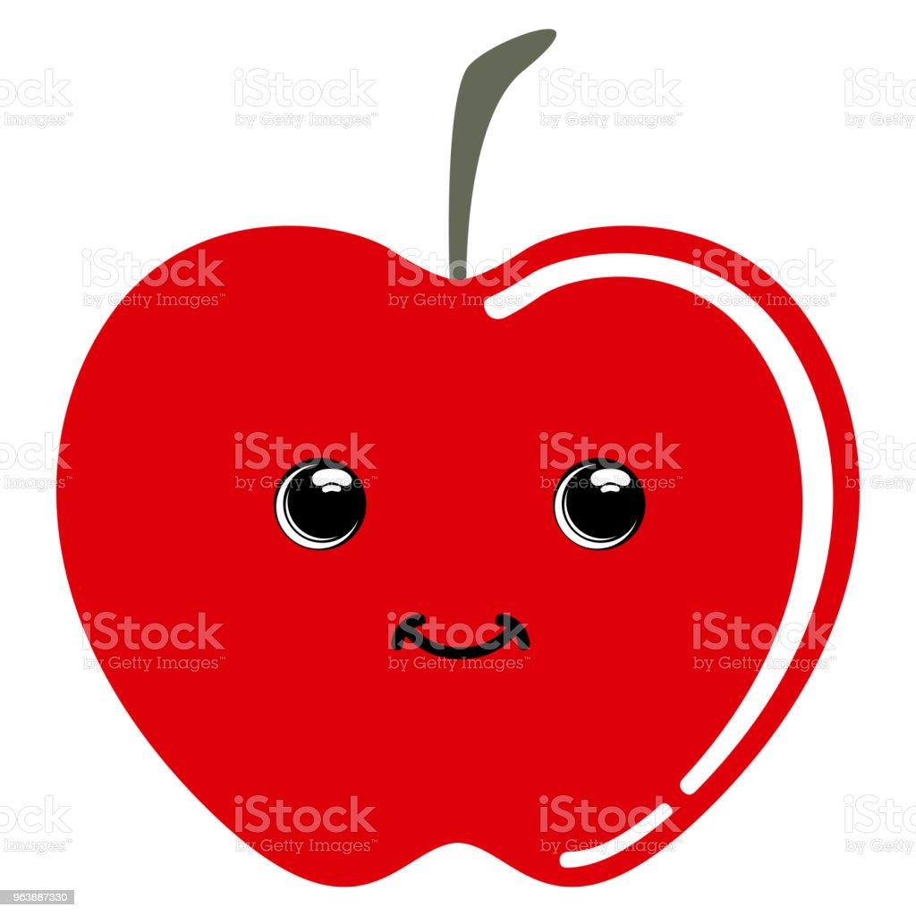 Cute apple emoticon - Royalty-free Apple - Fruit stock vector