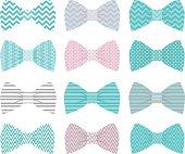 Cute Aqua Bow Tie Collection