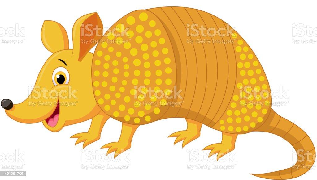 Cute armadillo cartoon vector art illustration